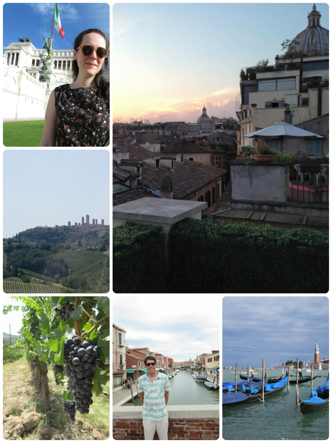 If you're considering locations for a honeymoon, I HIGHLY recommend Italy. Absolutely the best trip I've taken to date.